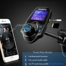 In-Car Large Screen Bluetooth FM Transmitter Fast Charger Wireless Radio Adapter
