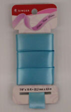 Singer Solid Satin Ribbon - 7/8-Inch by 15-Feet - Tropical blue