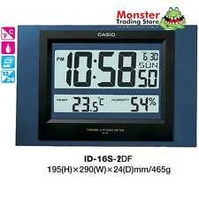 AUSSIE SELLER CASIO WALL CLOCK ID-16S-2DF ID16 TEMPERATURE 12 MONTH WARRANTY