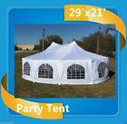 29' x 21' Decagonal Wedding Gazebo Party Tent Canopy - White
