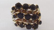 Amazing Art Deco 5 way 9ct Sapphire and Diamond ring sz 7.25/7.5  heavy 6.19gms