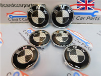 BMW Carbon Fibre Badge Set Alloy Wheels 82mm x2 68mm x 4 Bonnet Boot Wheel set