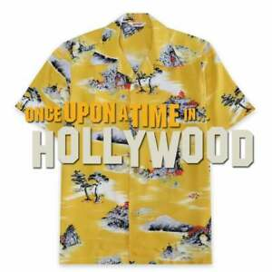 Hawaiian Shirt Brad pitt yellow once upon a time in hollywood