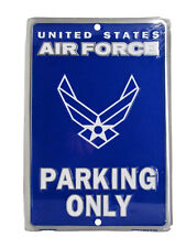 """United States Air Force USAF Wings Parking Only 8""""x12"""" Metal Plate Parking Sign"""