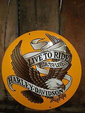 NEW METAL HARLEY DAVIDSON RIDE SIGN bike motorcycle shop eagle wings HD skull