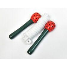 Corde à sauter manches bois décorés fraises