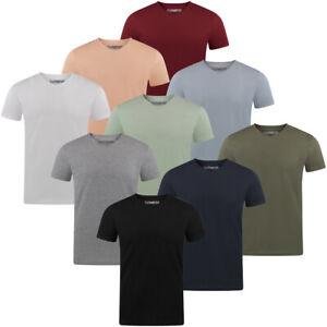 riverso Herren T-Shirt RIVAaron 4er Pack V-Ausschnitt Regular Uni 100% Baumwolle