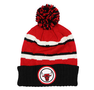 MITCHELL & NESS Chicago Bulls High Five Quilted Pom Beanie Adult One Size