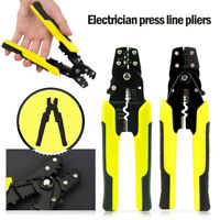 Insulated Cable Connectors Terminal Ratchet Crimping Tool Wire Crimper Pliers❤