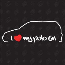 Amo mio vw Polo 6N - Tuning Adesivo, Auto Ventilatore adesivo, Car Silhouette
