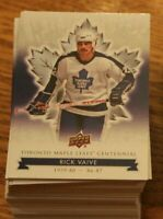 FULL SET of 2017 Upper Deck TORONTO MAPLE LEAFS Centennial Set Base- #1-100