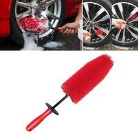 "18.8/"" Long Red Brush Car Truck Wheel Rim Tire Hood Fender Cleaning Washing Tool"