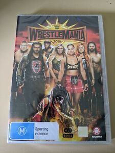 WWE Wrestlemania 2019 - Genuine Region 4 DVD Ronda Rousey BRAND NEW & SEALED!