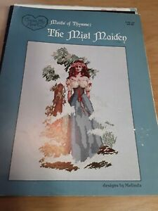 Rare Vintage 1985 Cross my Heart Maids of Thymme Mist Maiden Cross Stitch Charts