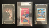 Buffalo Bills Jack Kemp 3 Football Card Lot- One Graded And One Signed