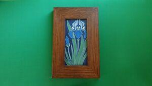 Motawi Tileworks Art Tile - Iris (4x8) - Includes Frame
