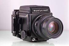 PREMIUM MAMIYA SLR 6X8 RB67 PRO SD 90mm KL 120 680 WL FINDER CLA SERVICED TOP