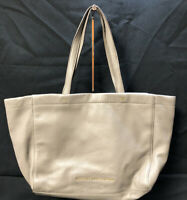 Marc by Marc Jacobs Pebbled Women's Leather Tote Handbag Beige.