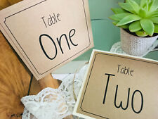 Individual table numbers Wedding / party Square