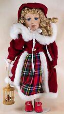 "Hearts & Harvest Memories Porcelain Collector's Girl Doll 16.5"""