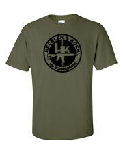 Heckler Koch No Compromise Black Logo T Shirt 2nd Amendment Pro Gun Rights Rifle