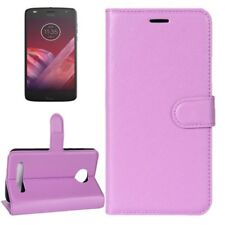 Cover Wallet Premium Purple for Motorola Moto Z2 Play Case Cover Pouch NEW