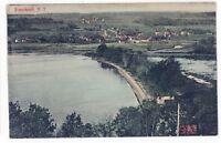 Aerial View Railroad Station BRANCHPORT NY Keuka Lake Yates County Postcard