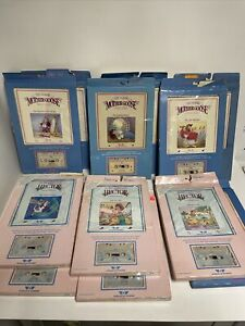 Vintage Lot of 12 Talking Mother Goose Tape and Book Combos with Original Box!