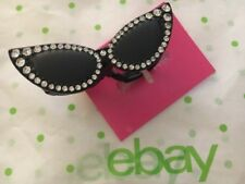 Betsey Johnson ~ Paris Eyeglasses Cat Eye Glasses Double Finger Ring ~ NWT