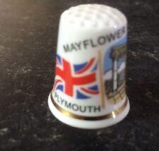Mayflower Memorial Thimble Plymouth England