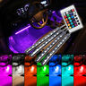 4pcs 9LED Remote Control Colorful RGB Car Interior Floor Atmosphere Light Strip*