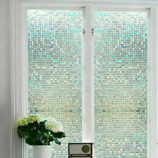 2PC Mosaic 3D Static Cling  Frosted Window Glass  Privacy Film Sticker Novelty