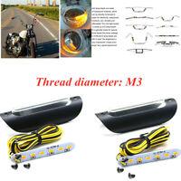 2X M3 Motorcycle Handlebar Lever Turn Signal Directional Light Waterproof Light