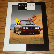 Original 1993 Volkswagen VW Cabriolet Sales Brochure 93