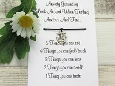 Anxiety Grounding Wish Bracelet Gift Card Anchor Charm Anklet Friendship Worry