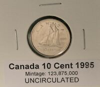 2002 P CANADA TEN Cent Dime UNC 10 Cent Coin from Mint Roll