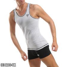 NEW XS Mens Grey VIGA Athletic Run Vest Gym Training Sport Singlet Int.TV566