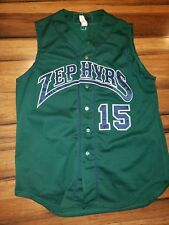 Vtg Rare New Orleans Zephyrs game player used on field #15 jersey 48 wilson
