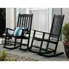 SET OF 2 Outdoor/Indoor Wood Rocking Chair Porch Patio Furniture MULTIPLE COLORS