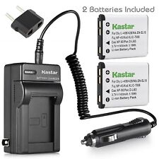 Kastar Battery X2 & Charger for Nikon EN-EL10 Coolpix S60 S80 S200 S4000 S5100
