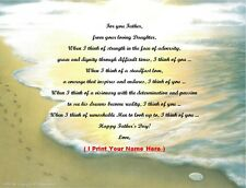 Father's Day Gift For That Special Dad from your Daughter Personalized Poem #9