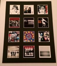 """U2 14"""" by 11"""" LP Discography Covers Picture Mounted Ready to Frame"""