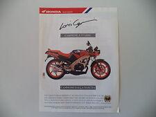 advertising Pubblicità 1991 MOTO HONDA NSR 125 F
