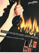 PUBLICITE ADVERTISING  1981   JEAN D'AVEZE  cosmétiques