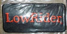 HARLEY DAVIDSON  LOW RIDER PATCH