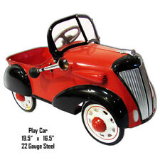 Little Red Play Car Laser Cut Out Metal Sign 16.5x19.5