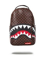Sprayground Backpack LV Sharks In Paris Bag Damier Louis Vuitton Checker NEW