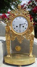 Antique Pendule clocks French Empire 19th c gilt ormolu bronze return of Egypt