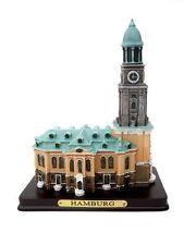 "Modell ""Hamburger Michel"" auf Holzsockel, Souvenir, St. Michaelis Poly-Miniatur"