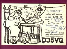 Vintage QSL Radio Card Germany DJ5VQ Karl Kaul Kreuznach September 2 1964